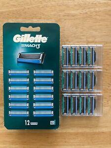 GILLETTE MACH 3 BLADES 12 PACK *BRAND NEW 100% GENUINE*
