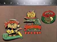 ! X3 Indiana SHOCKWAVES Collectible Souvenir Trading Team Pins Vtg. 1999 DUMBO ?