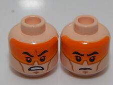 Lego Star Wars Minifigure Head Angry Pattern  Clone Pilot #36