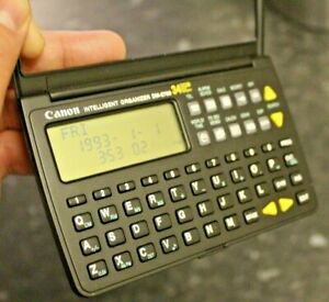 Vintage Canon Intelligent Organizer DM-2700 34kb Ram NEW BATTERIES FITTED VGC