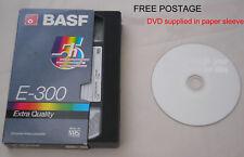 VHS Vhs-c Mini DV or 8mm Video Tape to DVD Disc Basic Transfer (no Editing)