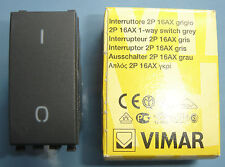 VIMAR 20015 Eikon grigio scuro antracite Interruttore 2P 16AX 1 way switch 0/1