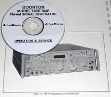 BOONTON 102E 102F  INSTRUCTION MANUAL (OPS & SERVICE)
