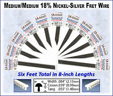 6 Feet MEDIUM/MEDIUM Frets/Fret Wire, for Guitars, Banjos & more!
