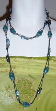 """Woman Turquoise Long Necklace Santa Fe Style Beaded  48"""" Fashion Boho style"""