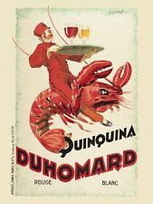 Duhomard Quinquina by Dorfinant Art Print Lobster Vintage Wine Bar Poster 24x18