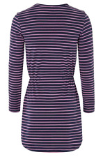 BENETTON Girls Navy Jersey Stripe Dress 3/4years - Brand New