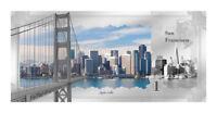 2018 Cook Islands Skylines San Francisco $1 Foil Note 5 g Silver Proof SKU53811