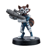 Eaglemoss Marvel Fact Files COSMIC SPECIAL Rocket Raccoon Figurine + Magazine