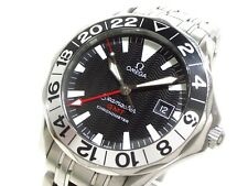 Auth OMEGA Seamaster GMT 2534.50 Silver Men's Wrist Watch 60416702