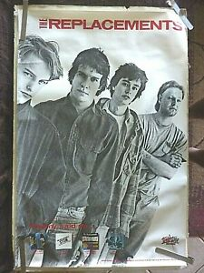 RARE THE REPLACEMENTS 1985 VINTAGE ORIGINAL MUSIC STORE PROMO POSTER