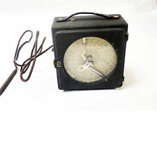 WESTON ANTIQUE THERMOMETER WITH A 24 HOUR GRAPH  ( TAG) # 7690