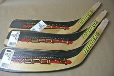 Lot of 3 BAUER X Stiff Vapor 4 Bure Harpoon Stick Replacement Blade JR LEFT
