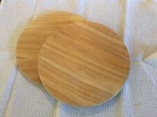 Wooden Cheese Or Chopping Board Round X 2