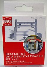 Busch 7791 Mini-Ausgestatungs-Sets Hebebühne & Werkstattwagen HO