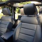 Jeep Wrangler 4-door Custom Black Leather Seat Covers Upgrade Set 2011 2012