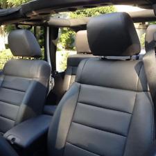 Jeep Wrangler 4-Door Custom Katzkin Black Leather Replacement Seat Covers Set