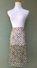 PRADA Mosaic Printed Silk Chiffon Sheer Skirt New With Tags Sz 42 (US size 4)