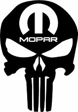 MOPAR PUNISHER decal Sticker B Dodge Charger Challenger Ram Dart 1500 Hemi Truck