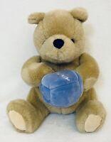 "Gund Classic Pooh Plush 8"" With Blue Honey Pot"