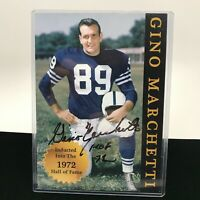 Gino Marchetti Baltimore Colts  Football Hall Of Fame Autographed Highlights