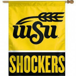 Wichita State Shockers Flag - Vertical 27X37 Outdoor House Flag. Wincraft