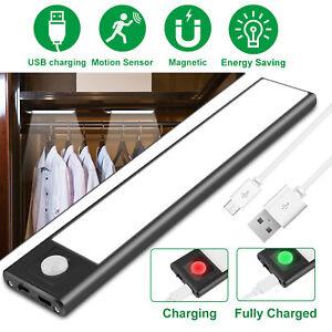 LED Motion Sensor Closet Light USB Rechargeable Wall Cabinet Kitchen Night Light