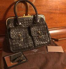 BOTTEGA VENETA Pocket Frame Hand Bag Intrecciato Ostrich Leather with Dustbag