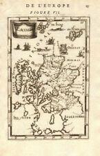 SCOTLAND. Showing rivers. Decorative. 'Escosse'. MALLET 1683 old antique map
