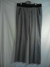 Review Ladies Pants in Grey with a Black Waist and Belt Loops Size 14