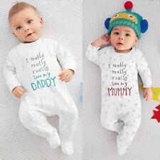 Neonati Bimbo Bambina Bambino Cotone Tutina Body Lungo Tuta Outfit Set Vestiti E
