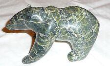 Inuit bear sculpture, stone by Kiliktee Kiliktee, Cape Dorset, CA Mus of Civiliz