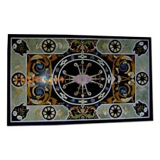 4'x3' Dining Top Marble Table Semi Stone Arts Inlay Room Decoration Items B341