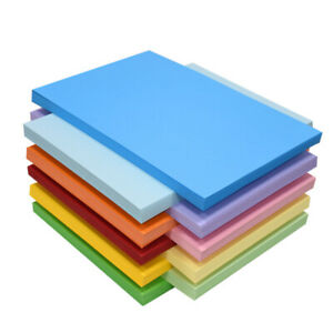 4K 8K 16K Coloured Paper Card Art Craft 50Sheets Bright Pastel Neon Origami