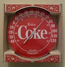 Vintage Round ENJOY COKE Thermometer-Advertising Sign-Gas Station-Original Box