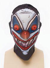 Payaso Stretch máscara facial completa miedo Spooky Halloween Vestido De Lujo Accesorios
