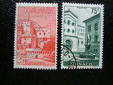 Monaco - Stamp Yvert and Tellier N° 397 398 Obl (A15) Stamp