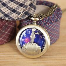 The Little Prince Clock Necklace Pocket Watch Antique Style Pendant Vintage