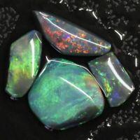 6.85 cts Australian Black Opal Rough, Lightning Ridge Parcel Rubs