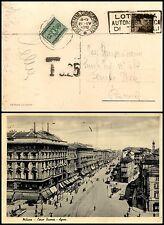 REGNO-FERMO POSTA-Cartolina Milano x Roma 21.4.1937-Tassata in arrivo 25c+Timbro