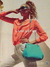 Publicité  2013 LANCASTER sac à main pret à porter collection mode vetement