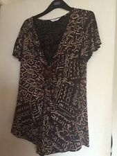 BNWTA Ladies New Look Aztec Design Brown Top Size 18