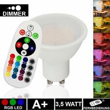 RGB LED Leuchtmittel Fernbedienung 3.5 Watt Farbwechsel GU10 Strahler Dimmbar