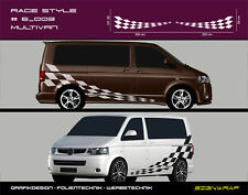 Race Style - VW T5 T6 Transporter Seitenaufkleber Autoaufkleber - #6_003