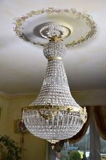 LIGHTING CRYSTAL BRASS CHANDELIER 100 cm