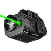 Tactical Green Laser Sight Combo Light LED Strobe Flashlight For Handgun/Rifle