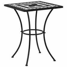 vidaXL Bistro Table High Gloss Black 60x60x75 cm Chipboard