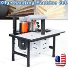 110V Wood Edge Banding Machine Edge Bander Woodworking Gluing Machine Adjustable
