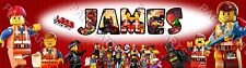 Lego Movie Characters 2014 Personalized Custom Name Painting Banner Poster Gift
