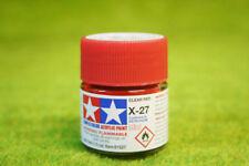 Tamiya Color GLOSS CLEAR RED Acrylic Mini Paint X27 10mls